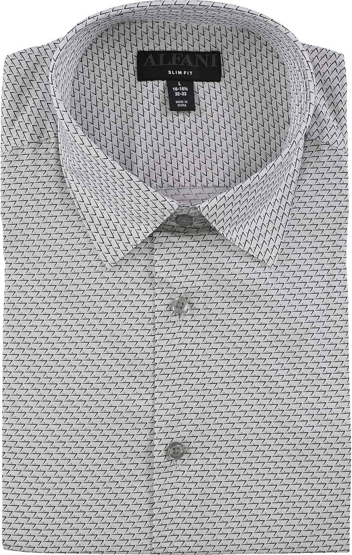 Alfani Mens Dot 正規取扱店 Seven Dress Button 定価 Up Shirt