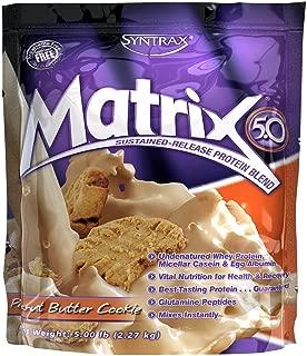 Syntrax Matrix Whey Protein, Peanut Butter Cookie, 5 Pound