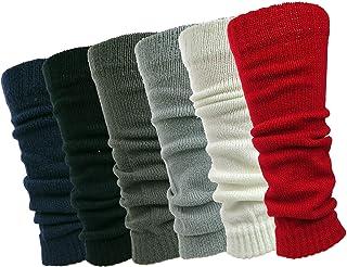 6 Pairs Womens Knit Leg Warmers Ribbed Knee High Leg Warmers Fashionable Stylish Debra Weitzner