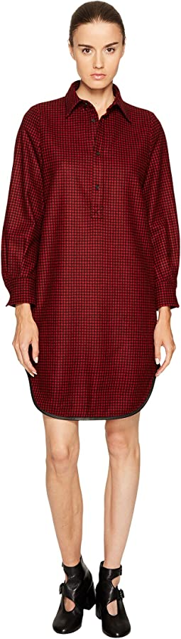 Mini Check Wool Micro Check Shirtdress