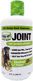 Liquid-Vet Dog Joint Formula – Fast Acting Glucosamine for Joint Aid in Canines – Chicken Flavor – Economy Size – 32 Fluid...