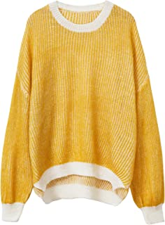 Xintianji Sweater for Women Loose Batwing Sleeve Knit Pullover Sweater