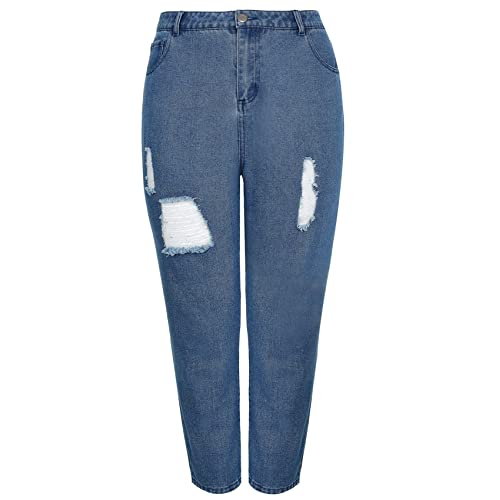 1dbfb65efef Yours Clothing Women s Plus Size Limited Collection Distressed Mom Jeans