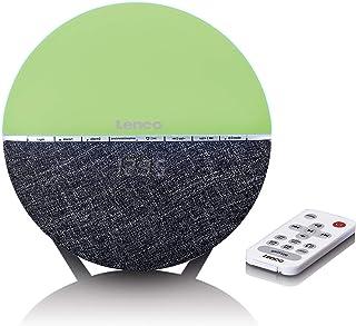 Lenco CRW 4 Uhrenradio   Wellness Wake Up Light   Lichtwecker mit Bluetooth   PLL FM Empfänger   zwei Weckzeiten   2 x 3 Watt RMS   Überblendanimation mit 7 Farben   grau