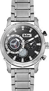 Lee Cooper Men's Multifunction Silver Case Silver Super Metal Strap Black Dial -LC06519.350