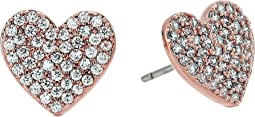Yours Truly Pave Heart Stud Earrings