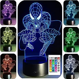 SERKYHOME 3D Illusion Lamp for Kids(Spiderman)