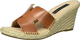 Women's Eryk Wedge Sandal, Cognac Leather, 9.5 M US