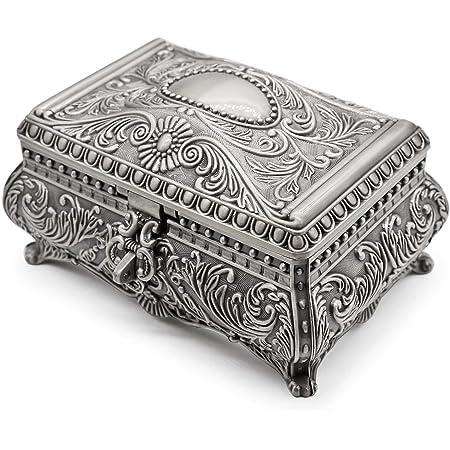Button Box Avon Metal Storage Box Scalloped Round Tin Oak Hill Vintage Valentine Hearts