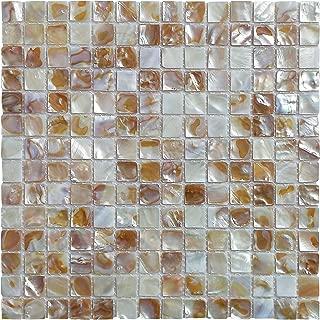 Art3d 6-Pack Natural Mother of Pearl Backsplash Tile for Kitchen, Bathroom Walls, Spa Tile, Pool Tile, 0.8