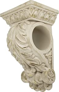 MERIVILLE Chatecu Drapery Sconce, Corbel Bracket, Drapery Scarf Swags, Wall Décor, French White with Gold Highlight, 1Pcs