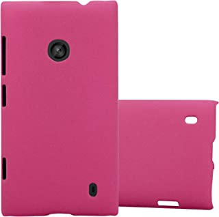 Cadorabo Case Works with Nokia Lumia 520 in Frosty Pink – Shockproof and Scratch Resistent Plastic Hard Cover – Ultra Slim Protective Shell Bumper Back Skin