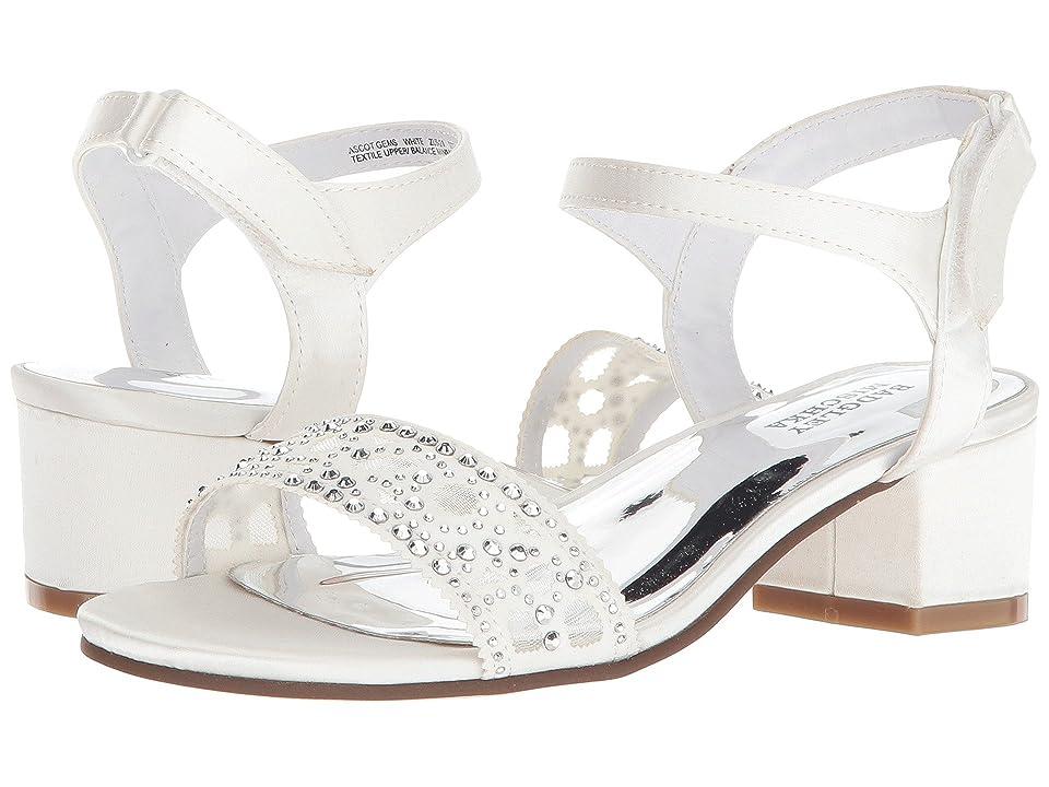 Badgley Mischka Kids Ascot Gems (Little Kid/Big Kid) (White) Girls Shoes
