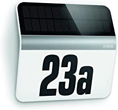 Steinel Huisnummerlamp Op Zonne-Energie Xsolar Lh-N, Schemerschakelaar met Lichtsensor, Max. 0,03 W, Led-Module, Ip44,22.7...