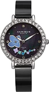 Akribos XXIV Women's Ornate Analogue Display Swiss Quartz Watch