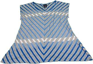 Calvin Kleinレディース半袖ストライプシャツ