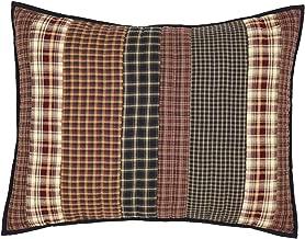VHC Brands Rustic & Lodge Bedding-Beckham Sham, Standard, Rust Red