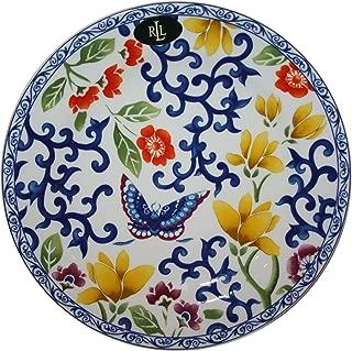 Lauren by Ralph Lauren Mandarin Blue Butterfly Brunch Plate Single Round 9 Inch Porcelain Fine China