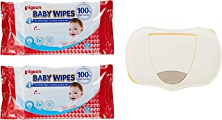 Pigeon Baby wipes 2packs + box set, 100% pure water, 3 count
