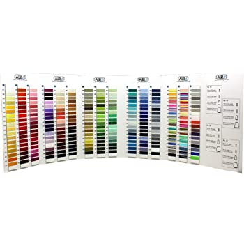 AURIFIL Mako Cotton Thread Wrapped 270 Color Colour Card Chart Quilting Thread
