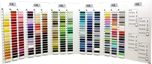 Aurifil Mako Cotton Thread Color Card ~ 270 Colors ~ Actual Thread Onto Card So You Can See Exact Colors