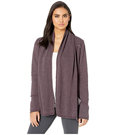 Hard Tail Slouchy Cardigan (Red Plum) Women