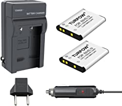 TURPOW 2 Pack EN-EL19 Battery + Charger Compatible with...