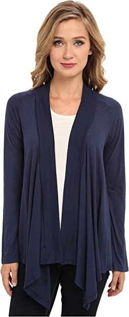Exclusive Very Light Jersey Drape Cardigan