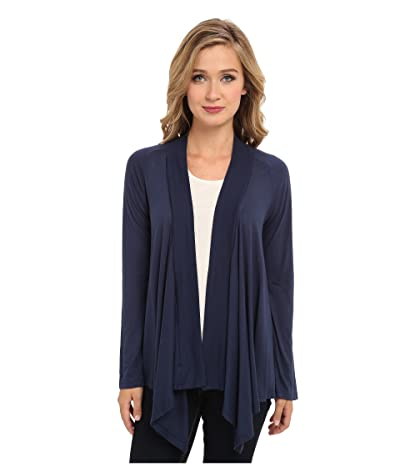 Splendid Exclusive Very Light Jersey Drape Cardigan (Navy) Women
