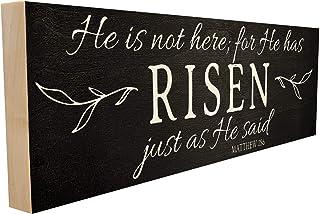 إنه ليس هنا؛ لأنه نمت تمامًا كما قال له. Matthew 28:6 مصنوع يدويًا في تينيسي، قياس هذه اللافتة المصنوعة من الخشب حسب الطلب...
