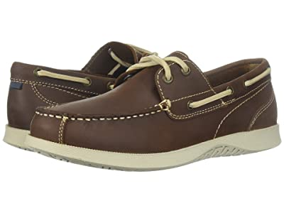 Nunn Bush Bayside Lites Two-Eye Moc Toe Boat Shoe (Brown) Men