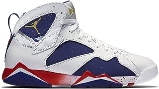 Jordan Air 7 Retro Olympic Tinker Alternate Men's Shoes White/Deep Royal Blue/Fire Red/Metallic Gold Coin 304775-123