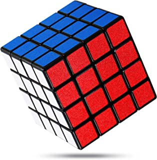 FAVNIC 魔方 立体パズル【6面完成攻略書付き】競技用 ポップ防止 知育玩具 (滑り止め 4x4 【マット感】)