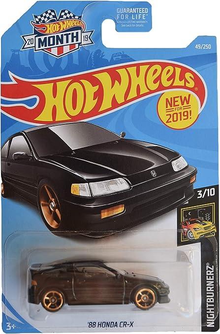 HOT WHEELS 88 HONDA CR-X IN BLACK W//GOLD WHEELS NICE!!!