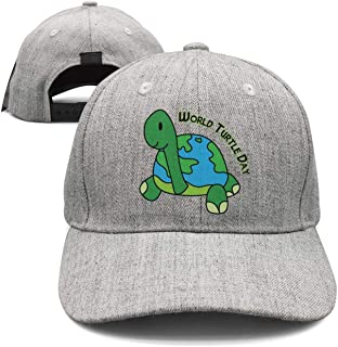 Cartoon Earth Vector World Turtle Day Unisex Hat Adjustable Fit Stretch Elastic Waistband