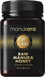Manukora UMF 20+/MGO 830+ Raw Mānuka Honey (500g/1.1lb) Authentic Non-GMO New Zealand Honey, UMF & MGO Certified, Traceabl...