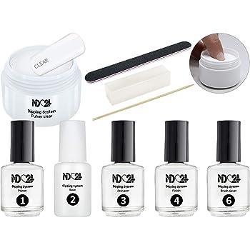 Dipping Powder Nails Starter Set Plus Four Fur Die Nagel Modellage Ohne Uv Lampe Dip Base 40g Pulver Aktivator Finish Zubehor In Studio Qualitat Amazon De Beauty