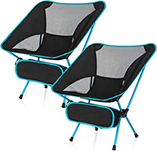 Esup Camping Chairs, 2 Pack Ultralight Portable Compact Folding Beach Chairs with Carry Bag for Outdoor Camping, Backpacki...