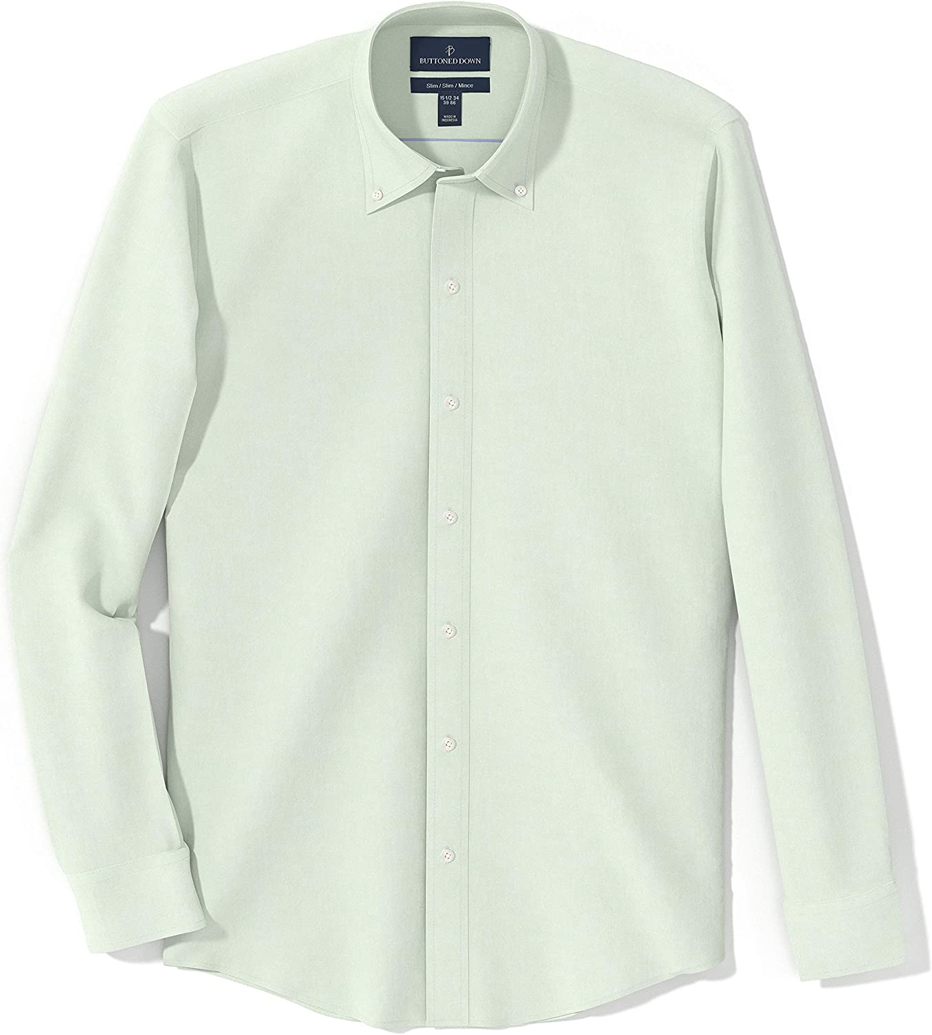 Marca Amazon - Buttoned Down Slim Fit Button-collar Pinpoint ...