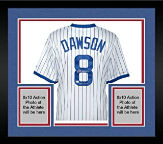 Framed Andre Dawson Chicago Cubs Autographed Cooperstown Collection White Replica Jersey with