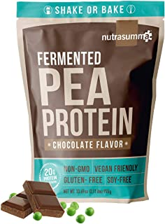 2.11 LB 100% Pea Protein Powder from North American Farms - Fermented Chocolate - Plant Protein Powder (Non-GMO, Gluten Free, Vegan Friendly)