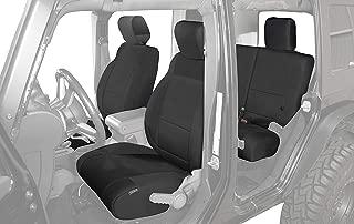 King 4WD Premium Neoprene Seat Covers, Black/Black - Jeep Wrangler Unlimited JK 4 Door 2008-2012