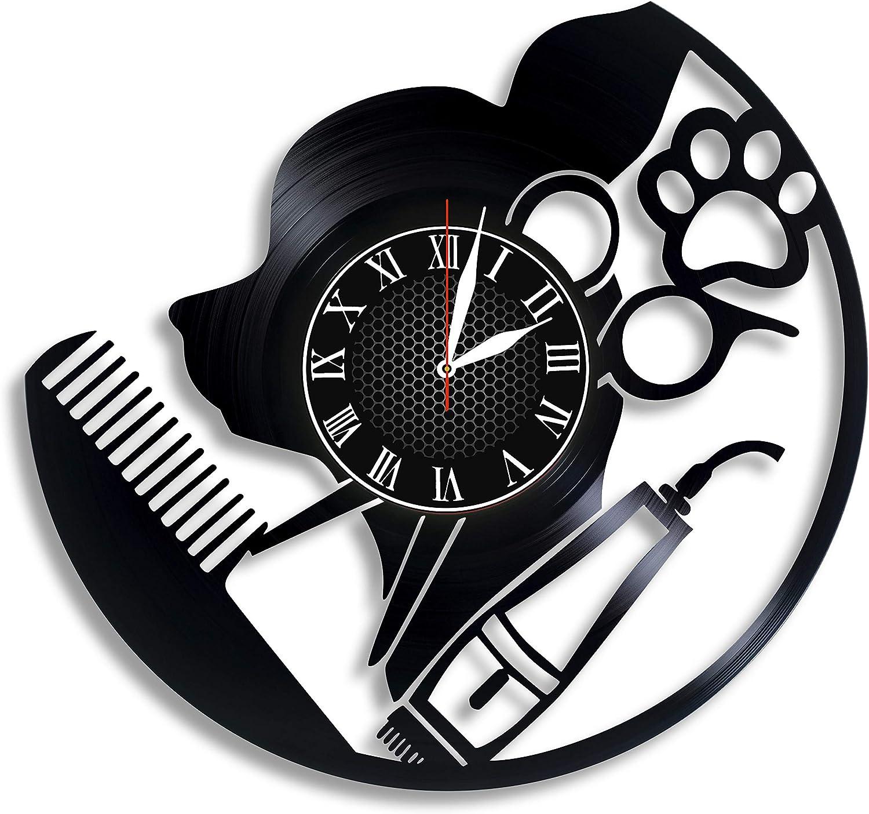 New mail order Dog SALENEW very popular Grooming Vinyl Wall Desig Trimming Clock Nail