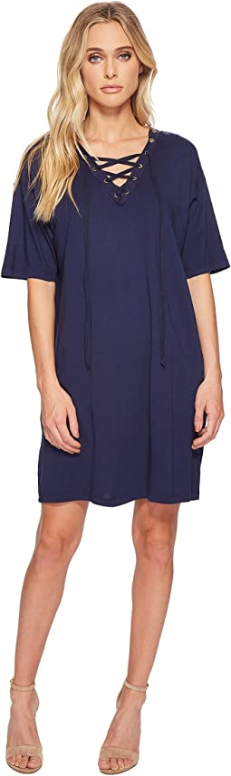 Michael Stars Grommets Lace-Up Dress