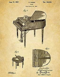 Music Instrument Patent Wall Art Prints - one (11x14) Unframed - wall art decor for musicians