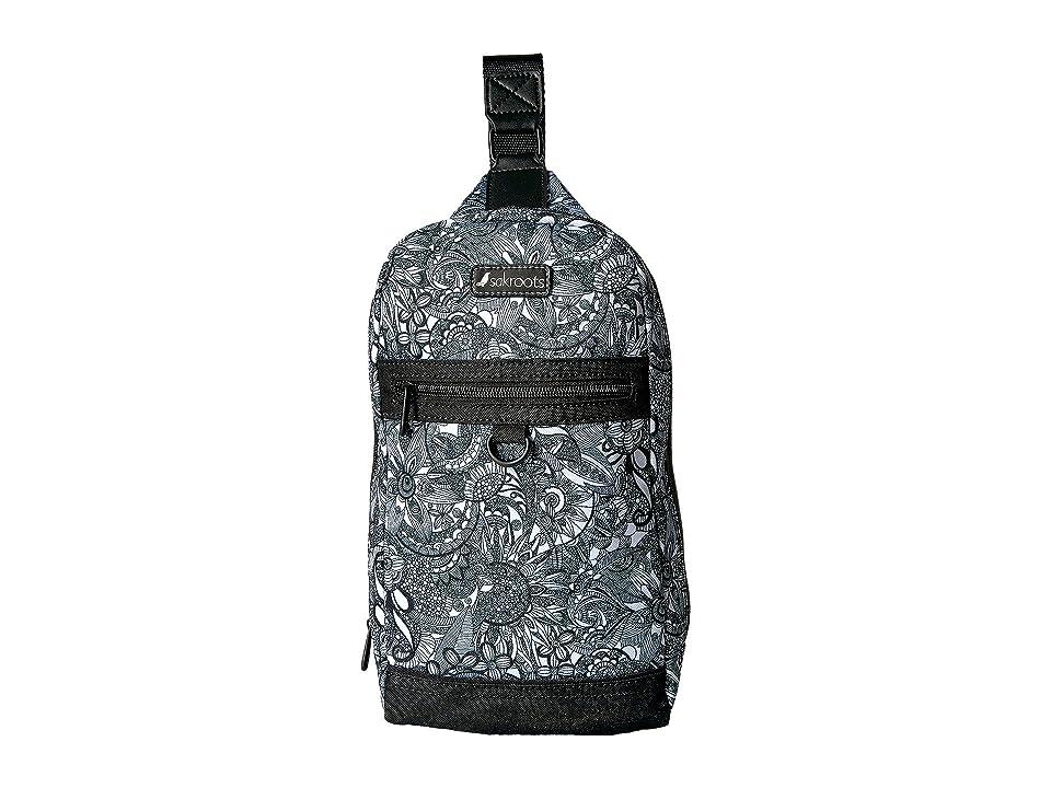 Sakroots New Adventure Hiker Sling Backpack (Black/White Spirit Desert) Backpack Bags