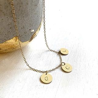 Collar de Oro Personalizado con Tres Discos Iniciales