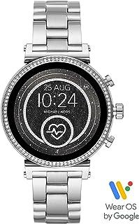 Michael Kors Women's Quartz Wrist Watch smart Display and Stainless Steel Strap, MKT5061