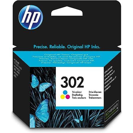 HP F6U65AE 302 Original Ink Cartridge, Tri-color, Single Pack