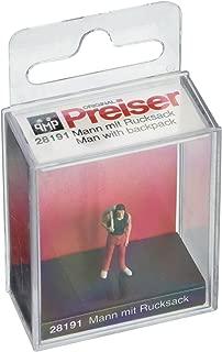 Preiser 28191 Man w/Backpack HO Model Figure